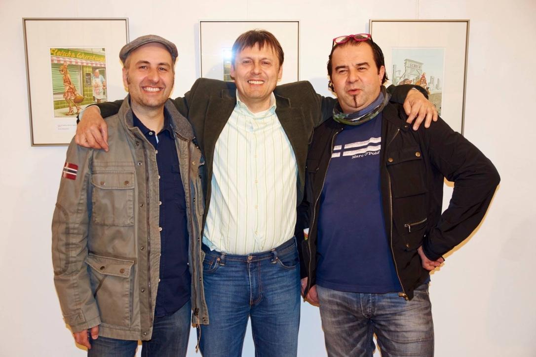 Mit Bruno Haberzettl (Krone) und VBernd Ertl